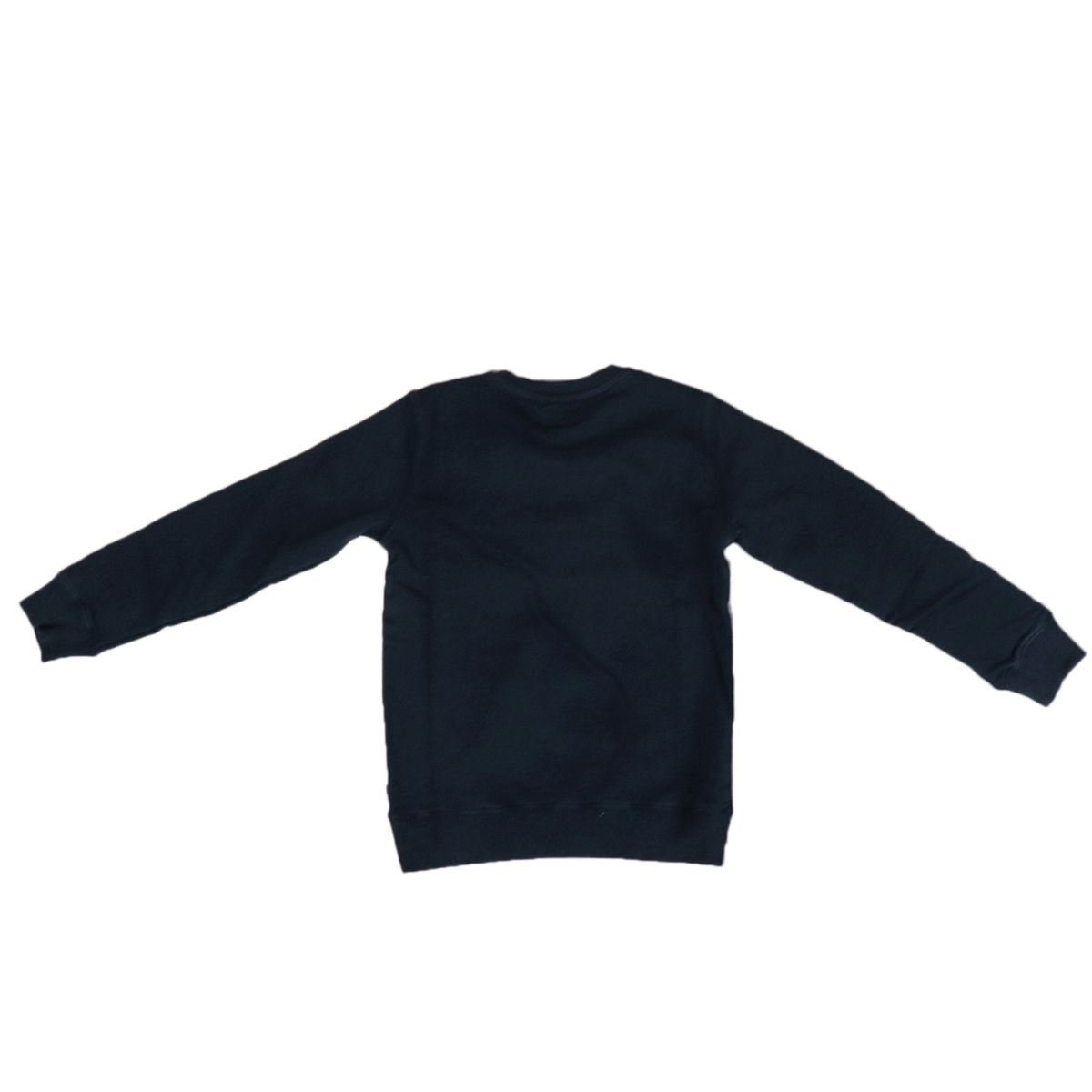 Crewneck cotton sweatshirt with contrasting lettering print Blue Woolrich