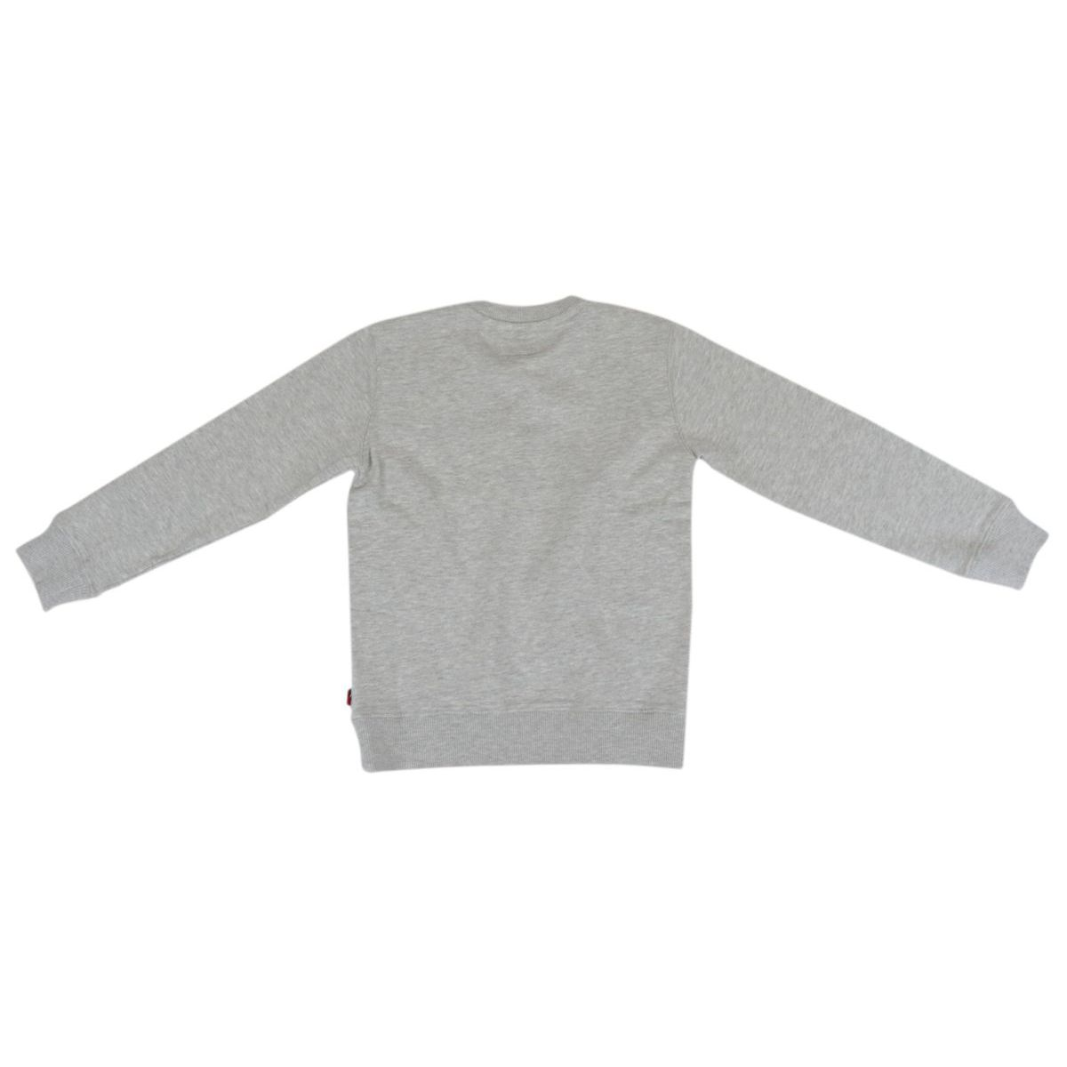Crewneck cotton sweatshirt with contrasting lettering print Gray Woolrich