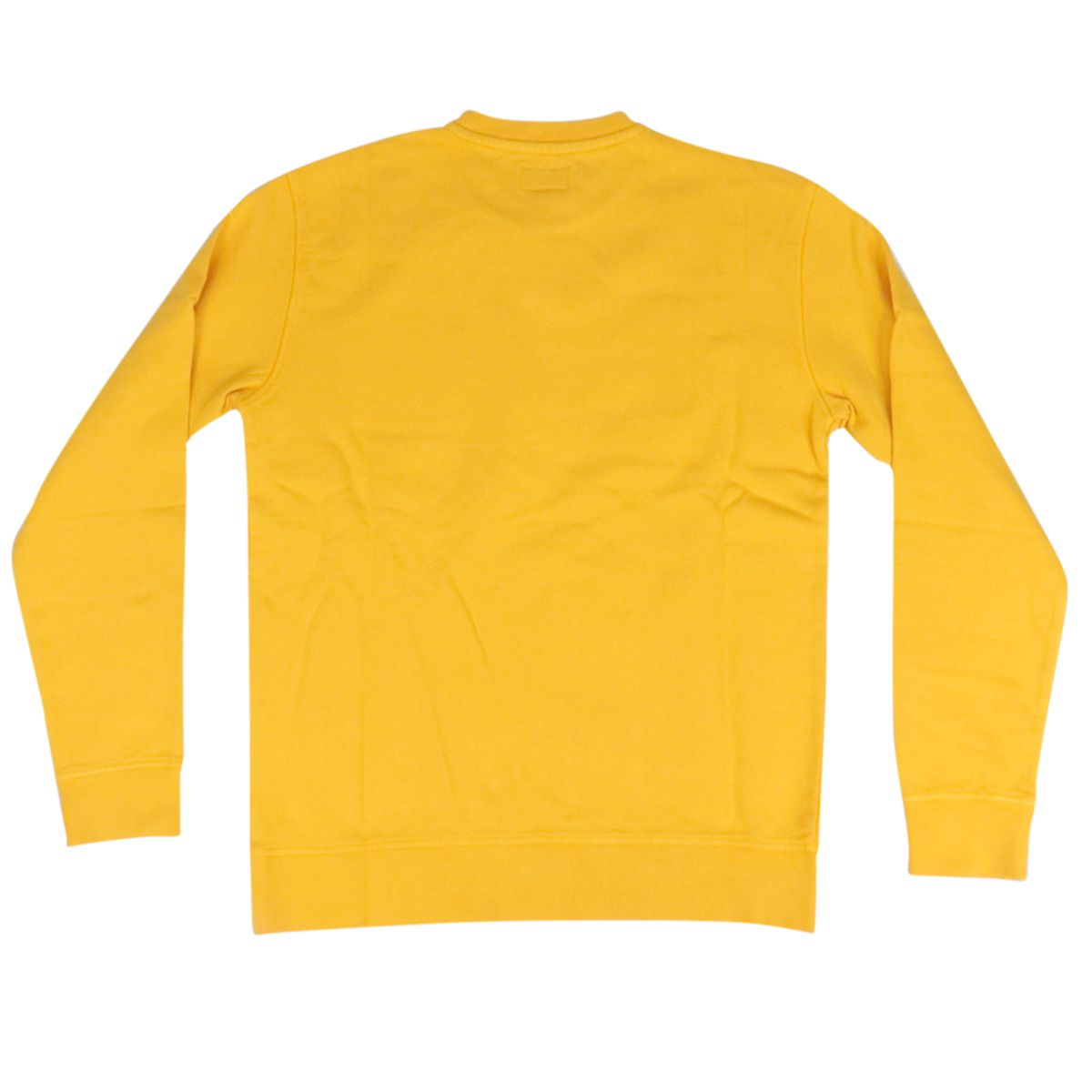 Cotton sweatshirt with front logo print Yellow Woolrich