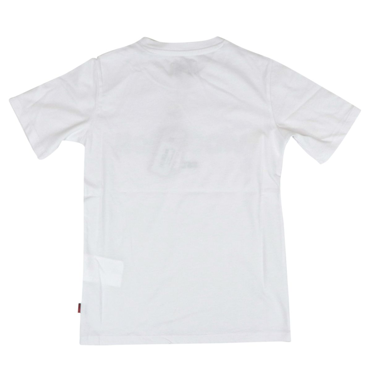 Crew neck cotton T-shirt with logo lettering print White Woolrich