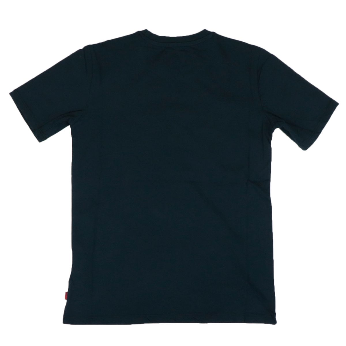 Crew neck cotton T-shirt with contrasting logo print Blue Woolrich