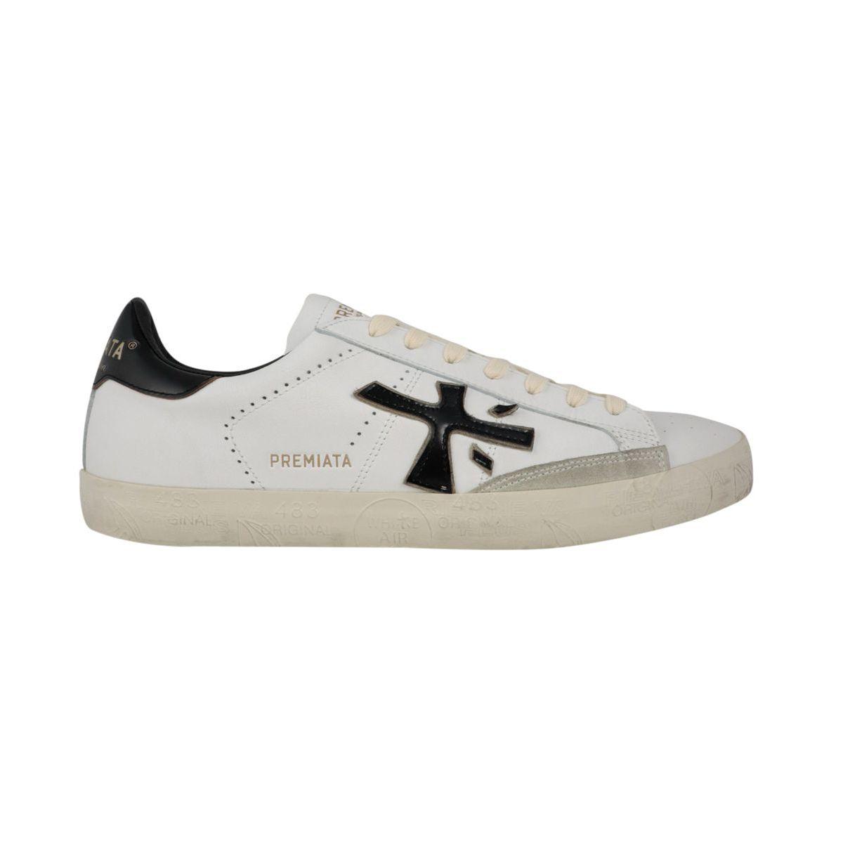 Steven sneakers in printed leather White black Premiata