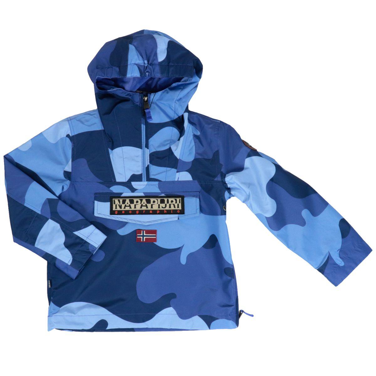 Rainforest polyamide jacket with camouflage print Blue camouflage NAPAPIJRI