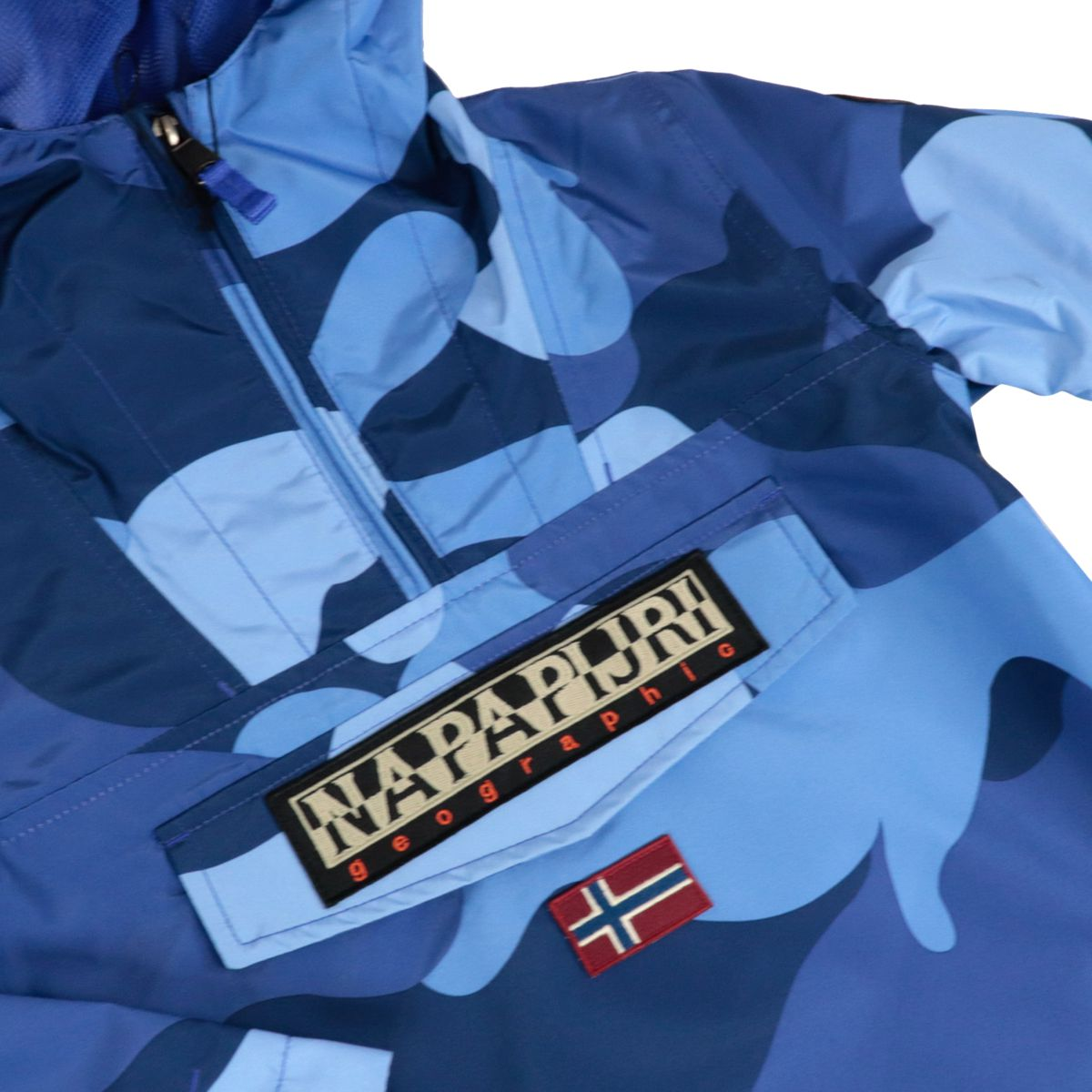 Rainforest polyamide jacket with camouflage print Blue camouflage NAPAPIJRI