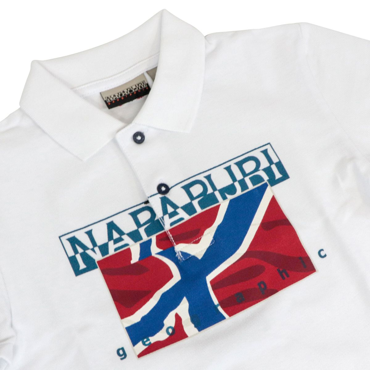 Cotton polo shirt with logo print White NAPAPIJRI