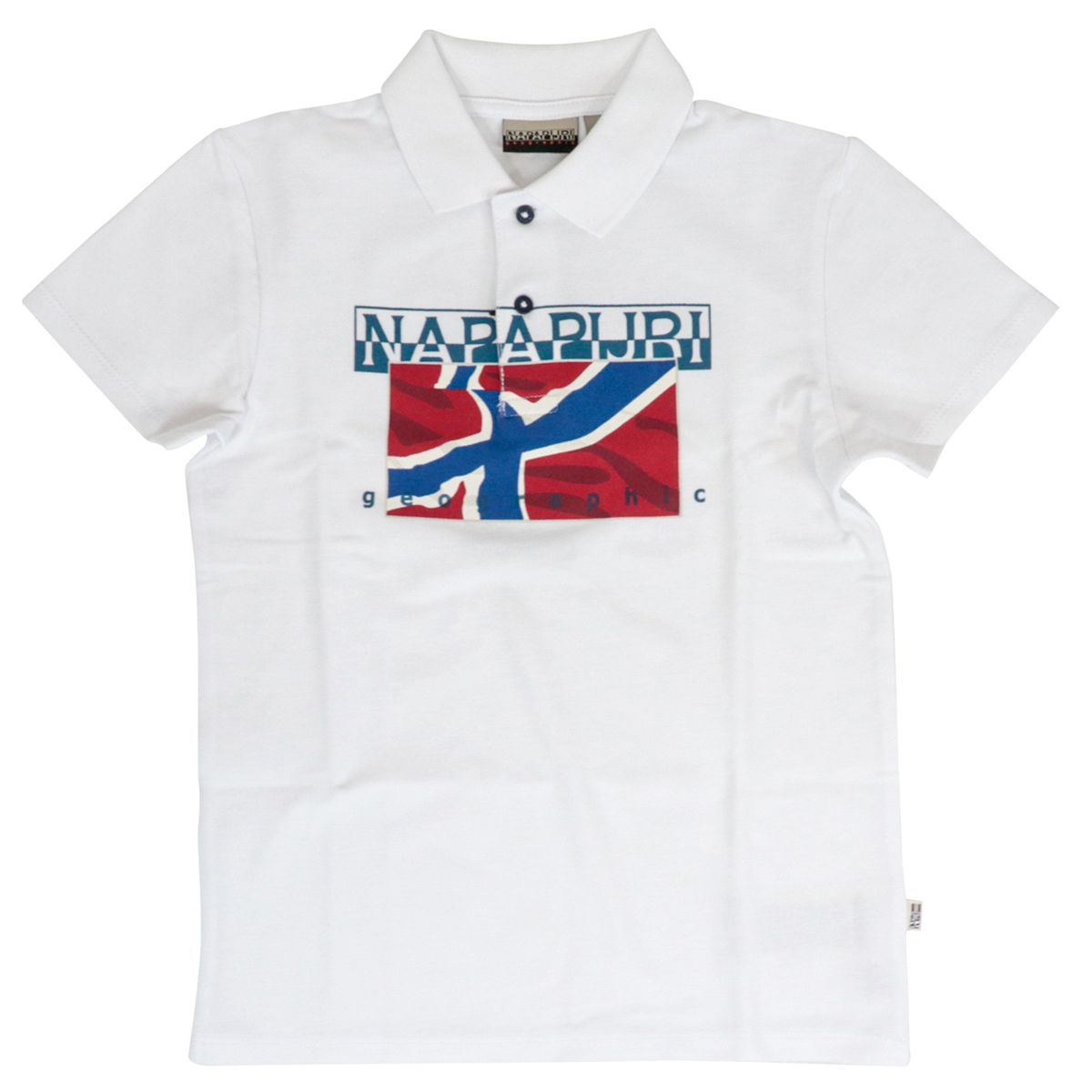 Cotton polo shirt with logo print White NAPAPIJRI