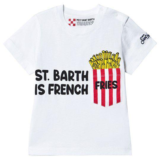 Cotton T-shirt with French Fries print White MC2 Saint Barth