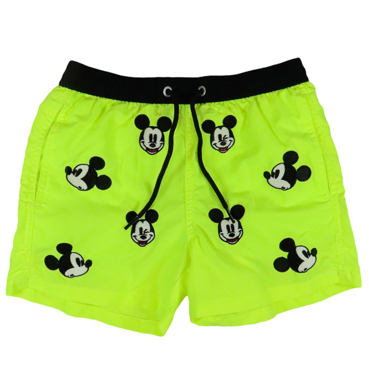 Jean boxer costume with Mickey embroidery Fluo yellow MC2 Saint Barth