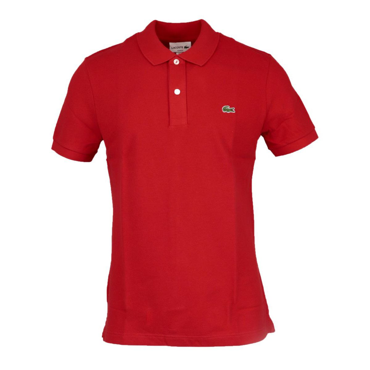 2-button polo shirt in slim cotton Red Lacoste