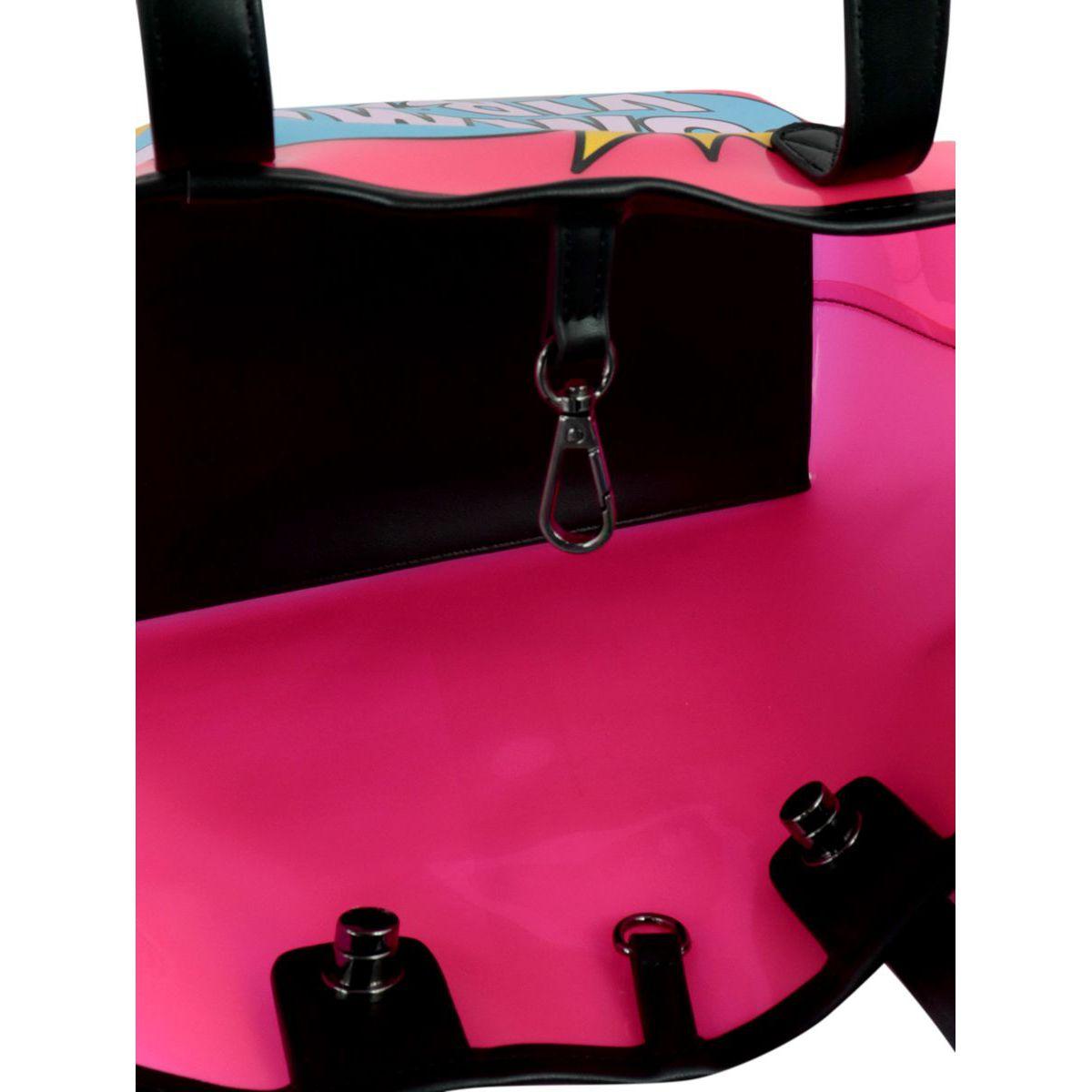 Las Vegas Mini Pop bag in polyurethane with print Neon pink MC2 Saint Barth