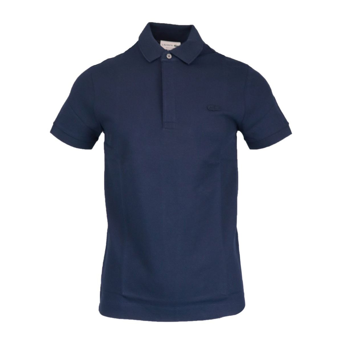 Regular Fit polo shirt in stretch cotton pique Navy Lacoste