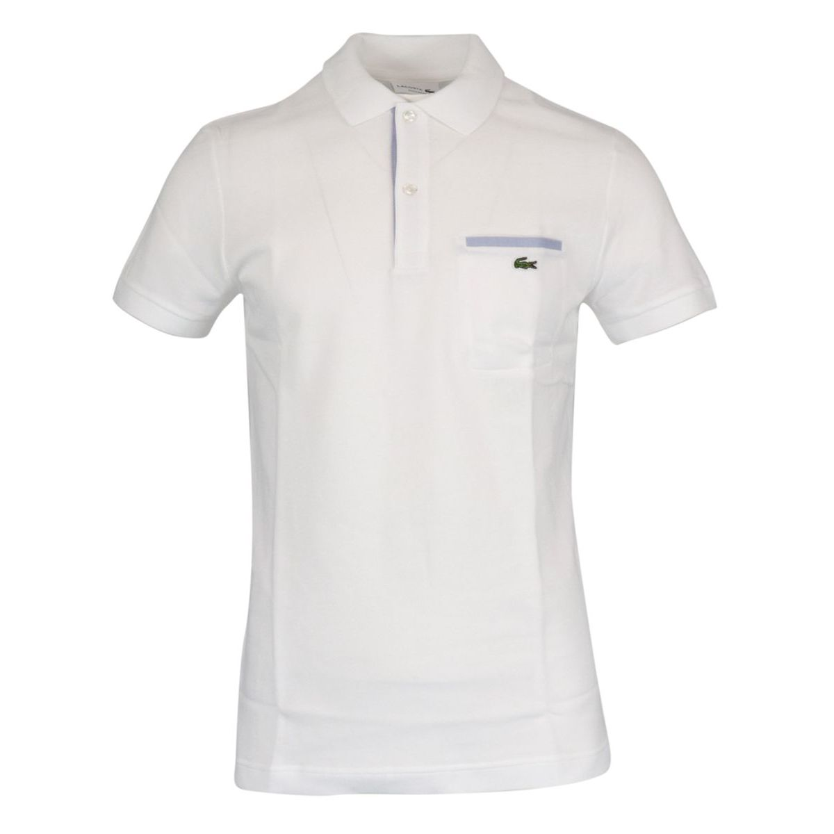 Regular Fit polo shirt in cotton pique with contrasting details White Lacoste