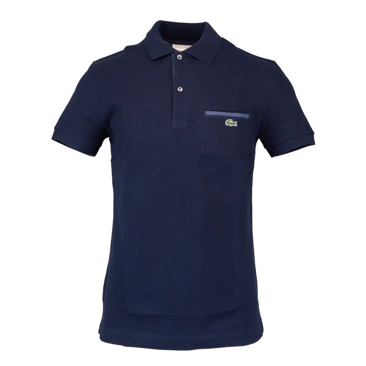 Regular Fit polo shirt in cotton pique with contrasting details Navy Lacoste
