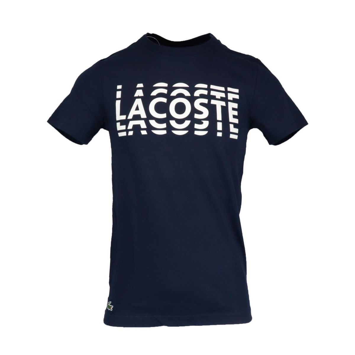 Ultra-Dry cotton blend T-shirt with logo print Blue Lacoste