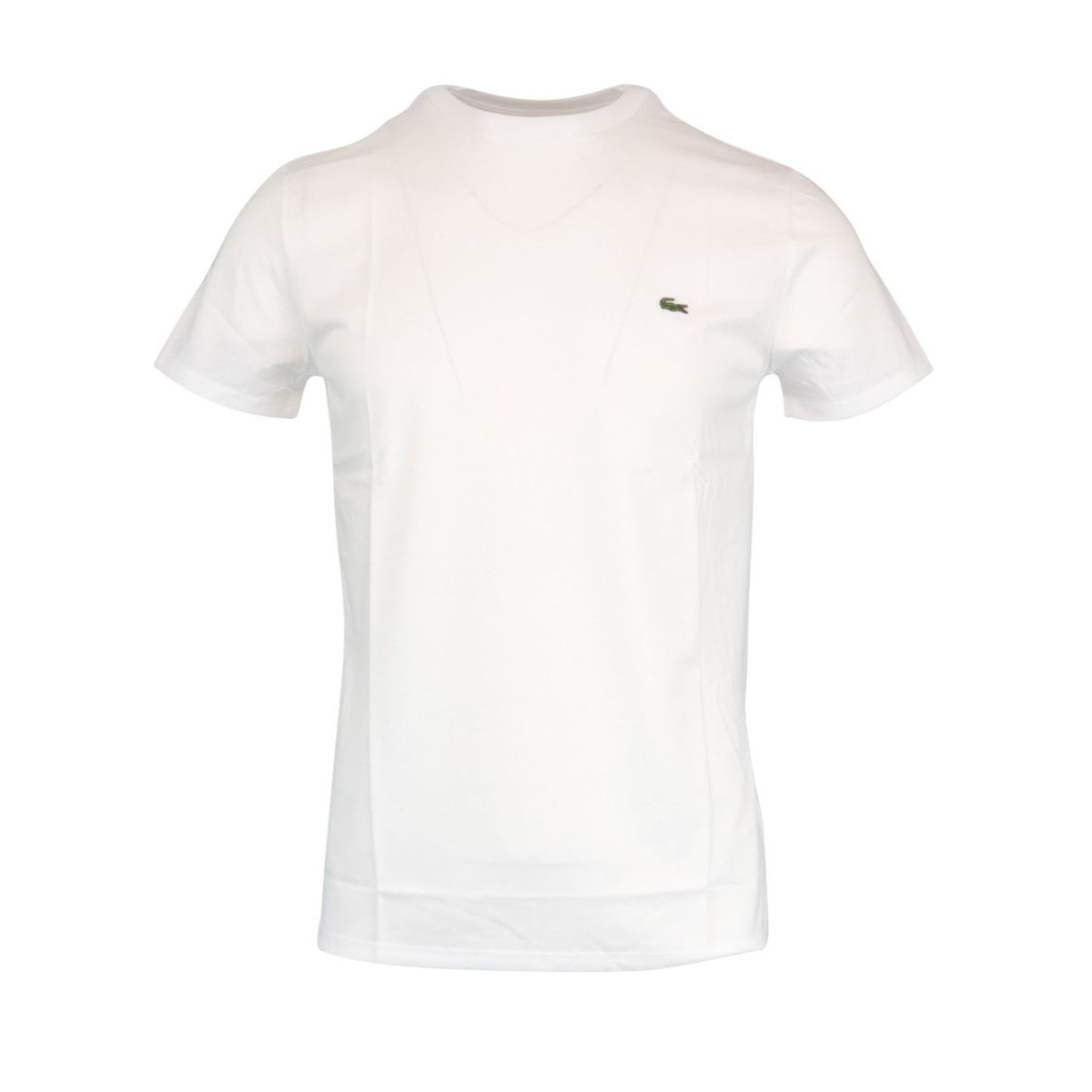 Regular cotton T-shirt with small logo applied White Lacoste