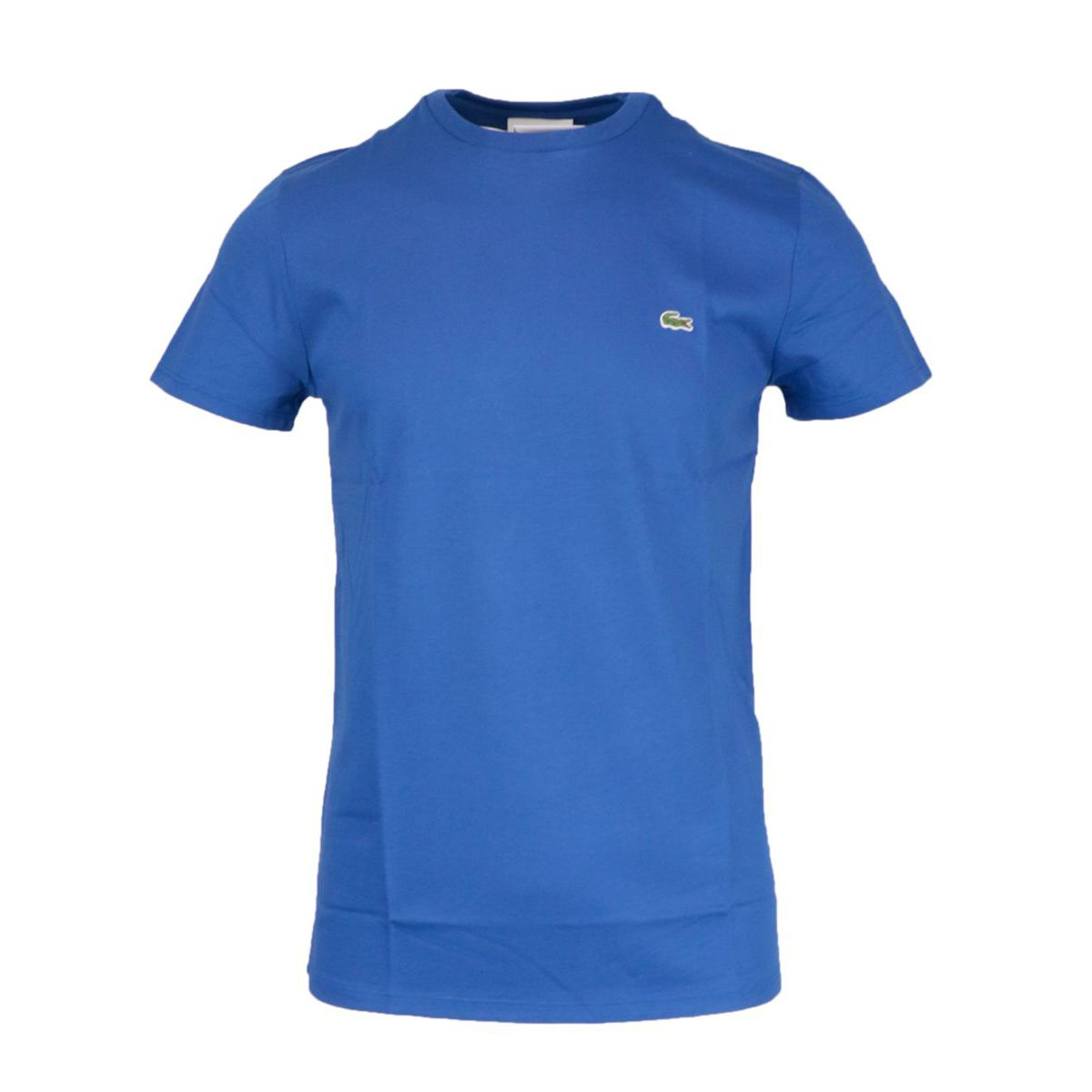 Regular cotton T-shirt with small logo applied Indigo Lacoste