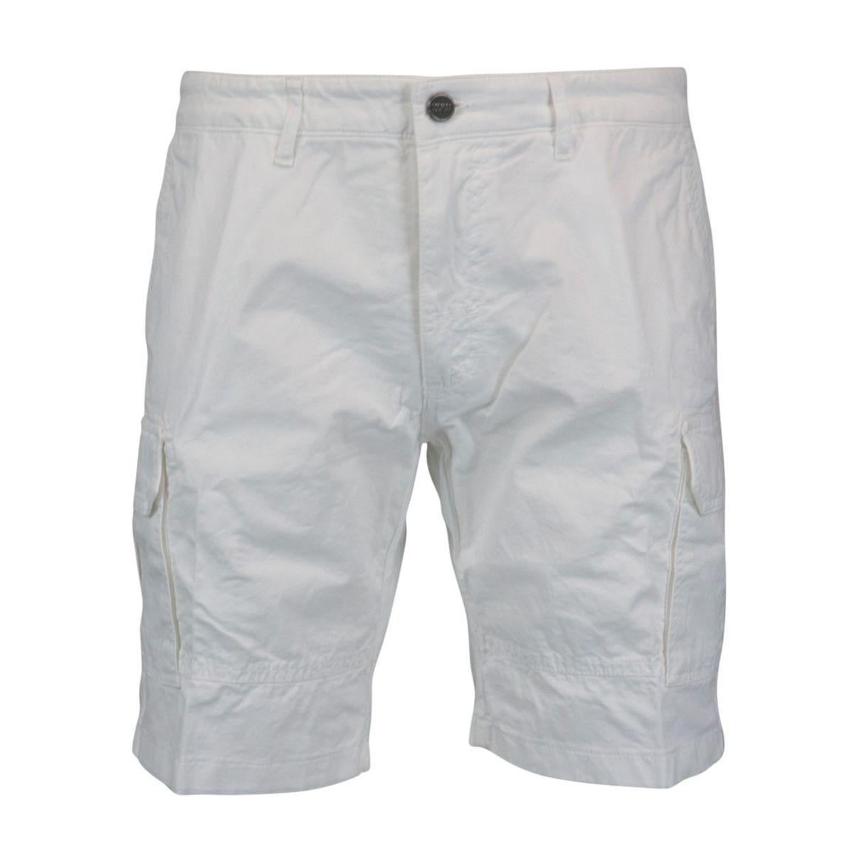 Cargo cotton bermuda shorts White Colmar