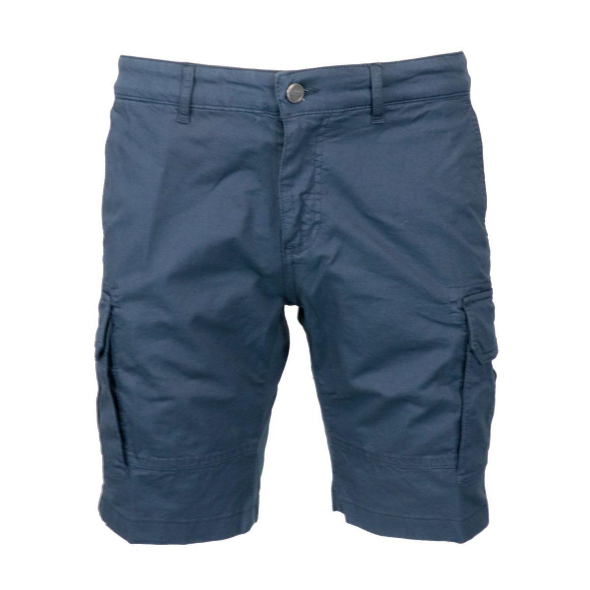 Cargo cotton bermuda shorts Navy Colmar