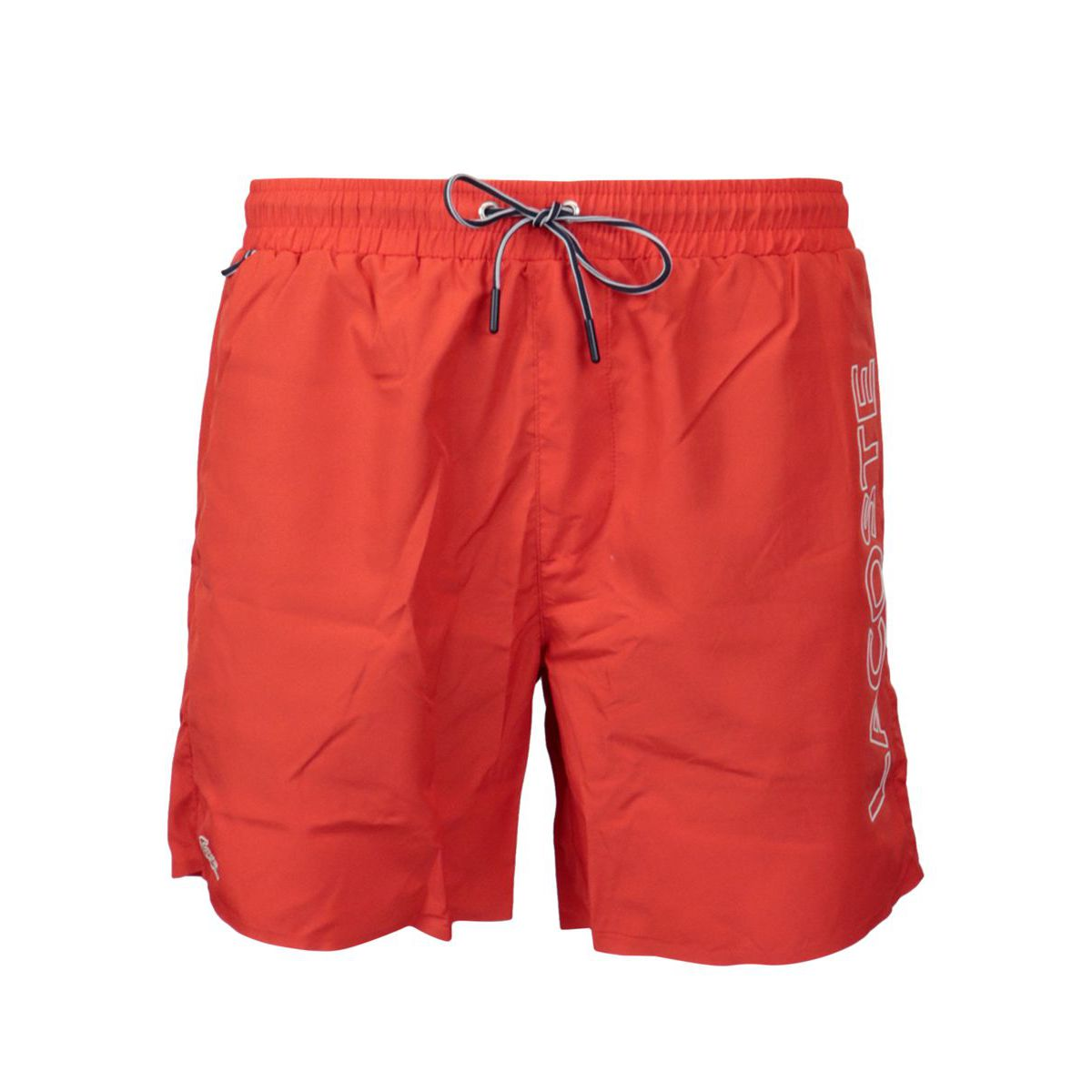 Beach shorts with laces and side logo Coral Lacoste