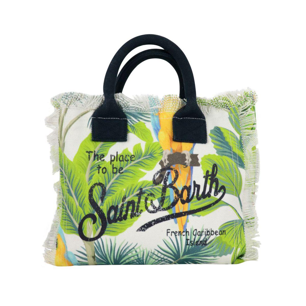 Colette bag in printed canvas Fantasy MC2 Saint Barth