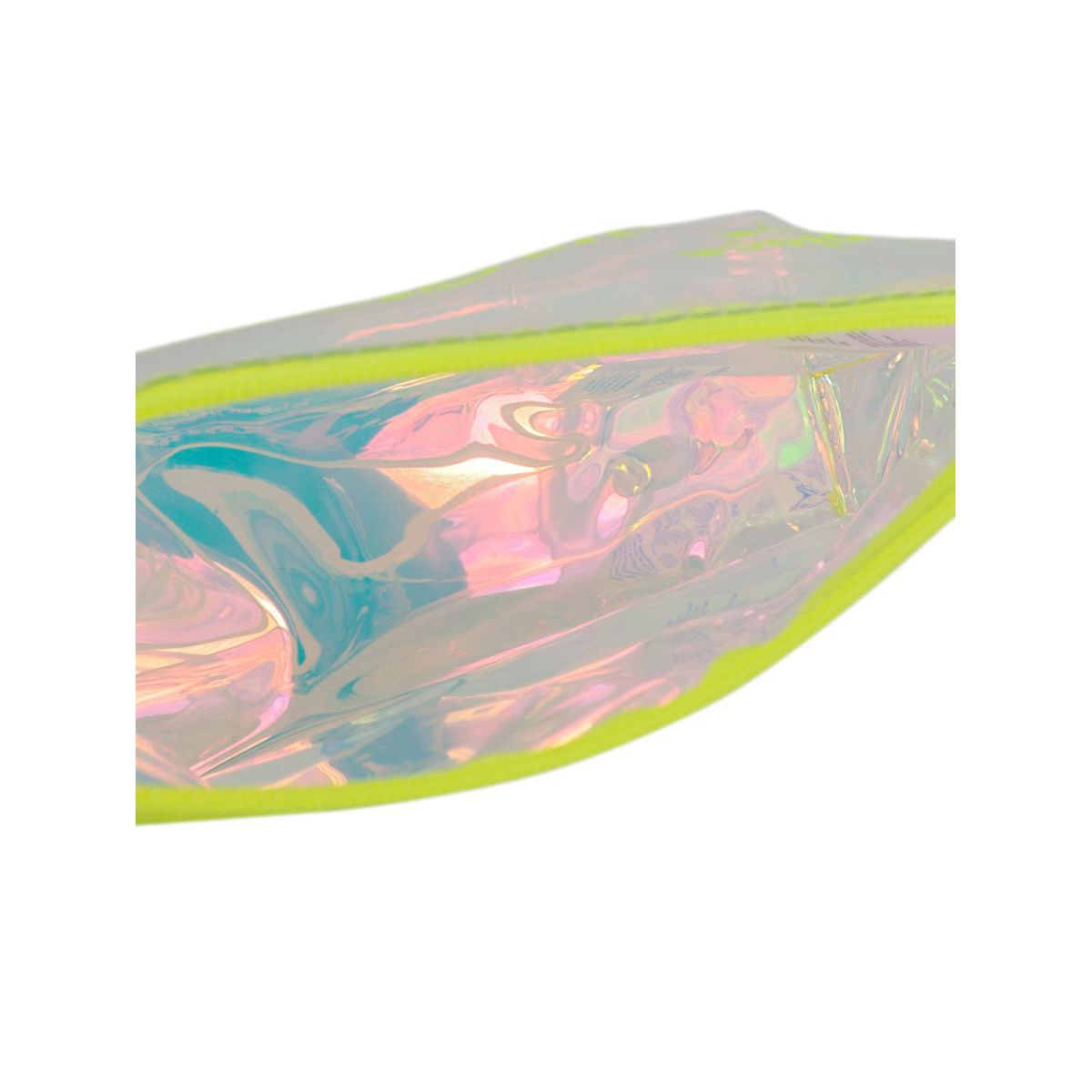 Clutch bag in PVC Aline with fluorescent print Fluo yellow MC2 Saint Barth