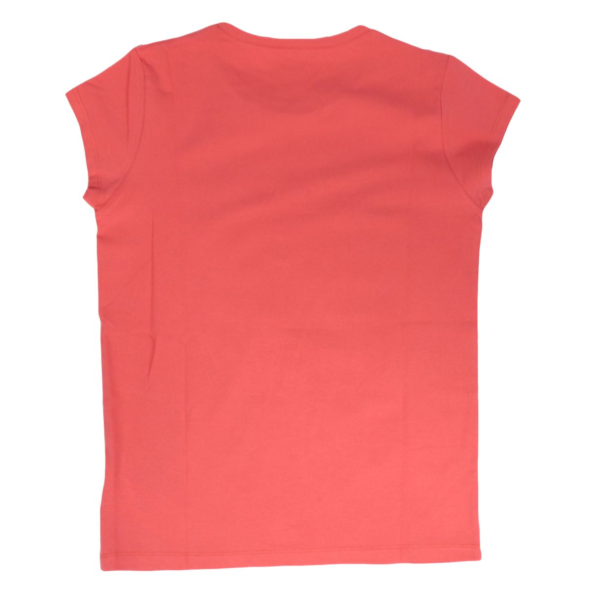 Short-sleeved T-shirt in cotton jersey with rhinestone logo. Coral Liu Jo