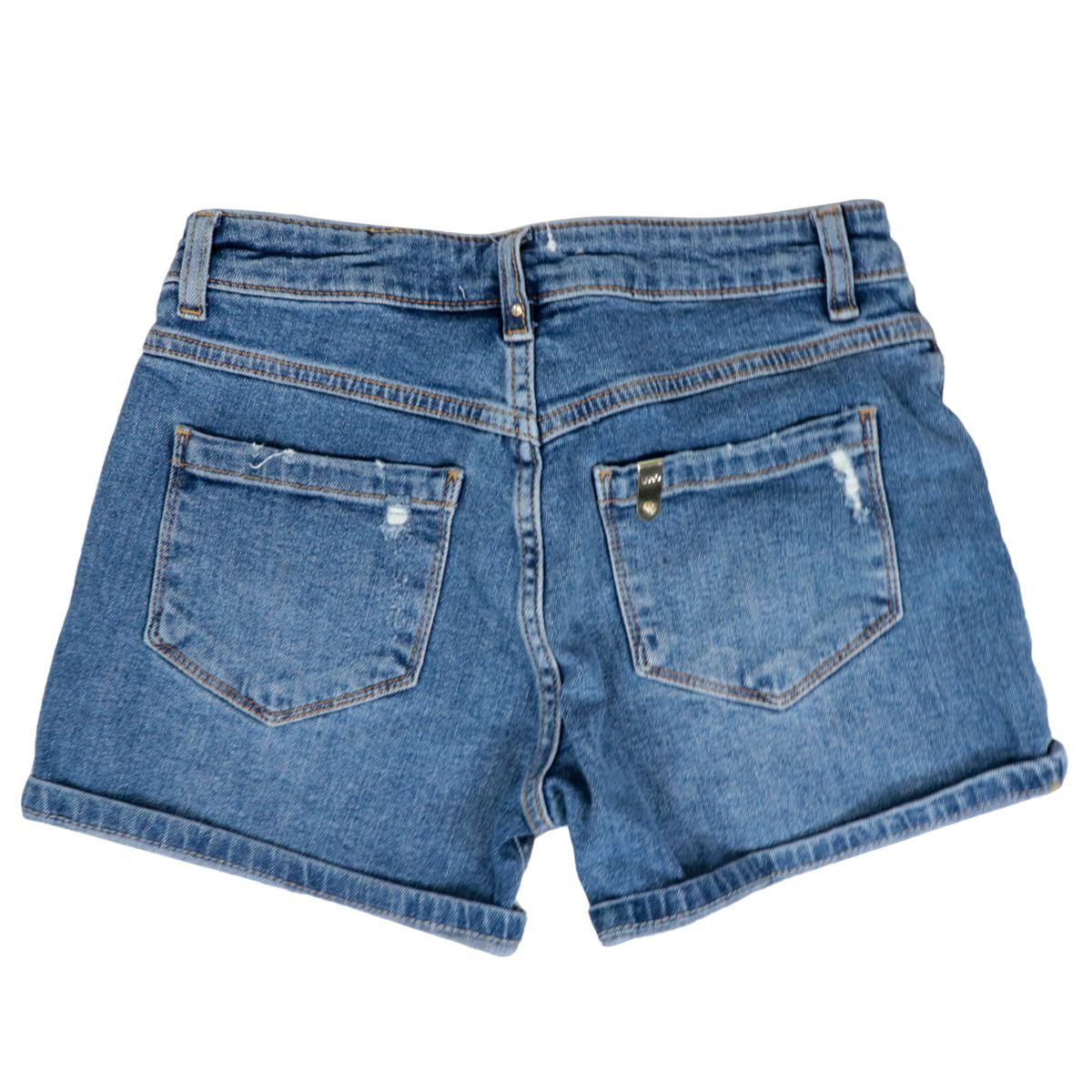 Denim shorts with destroyed effect breaks Blue denim Liu Jo
