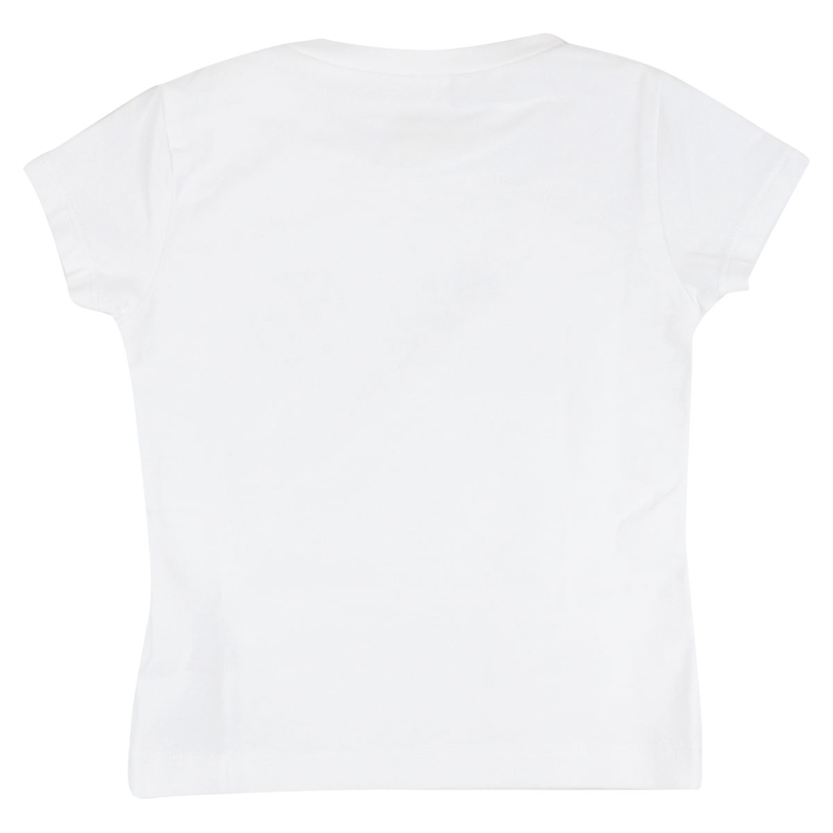 Stretch jersey T-shirt with logo and rhinestone print White Liu Jo