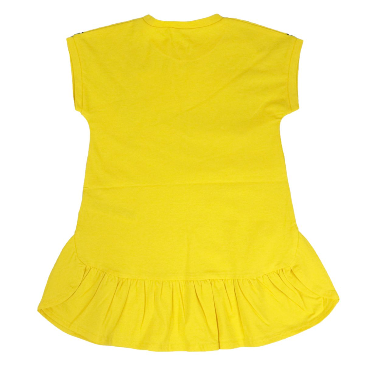 Dress in crowns with print and flounces Yellow Liu Jo
