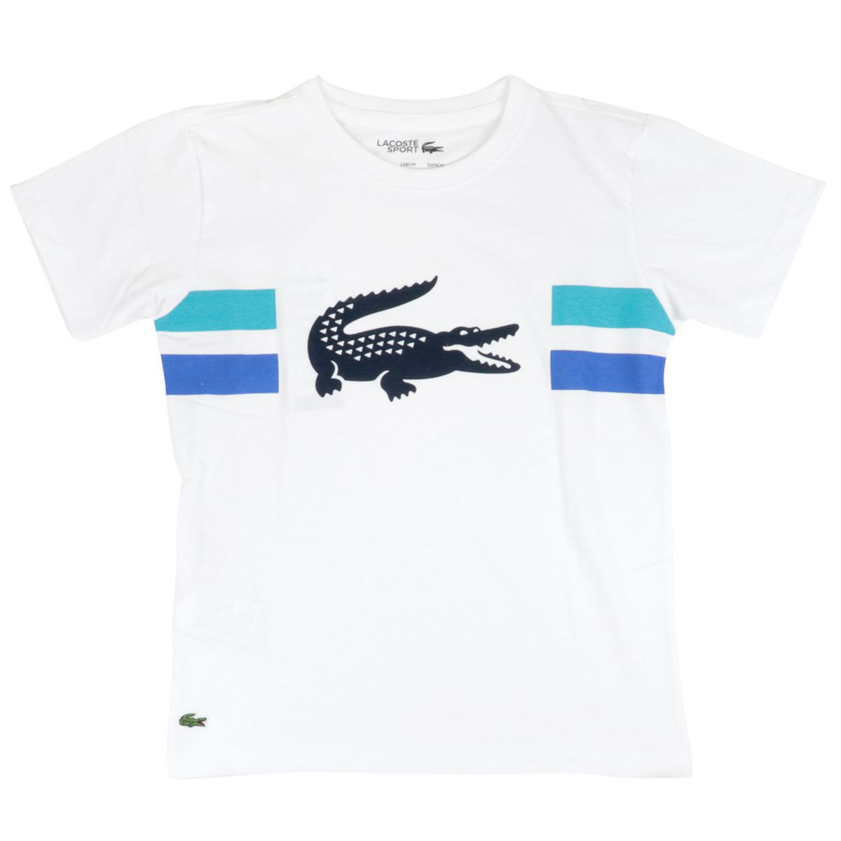 Cotton t-shirt with crocodile logo print White Lacoste