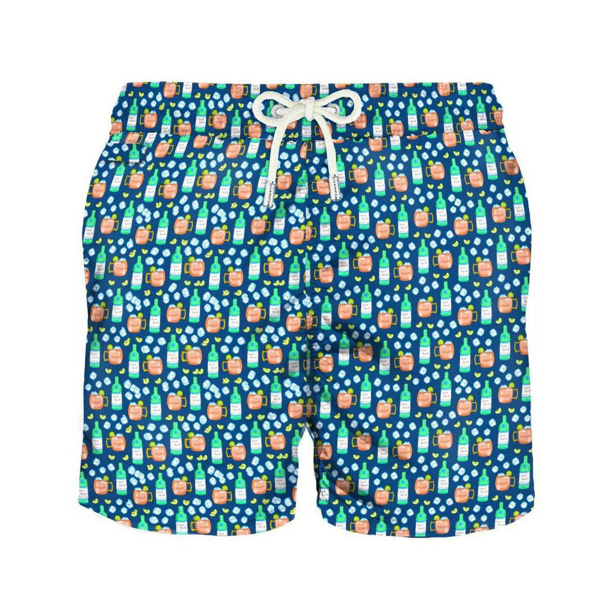 Nylon boxer costume with all-over Moscow Mule micro pattern Navy MC2 Saint Barth