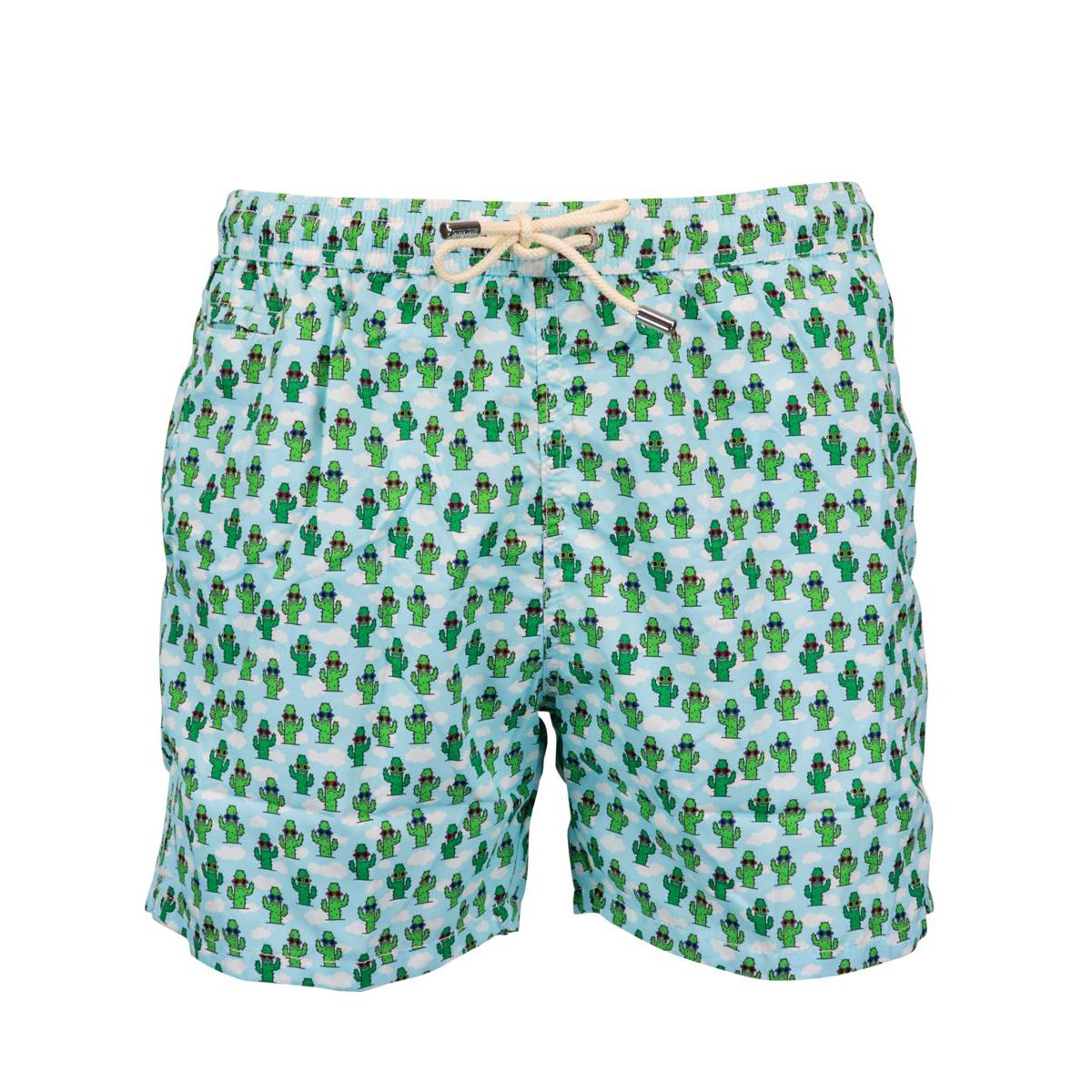 Nylon boxer costume with cactus pattern Heavenly MC2 Saint Barth