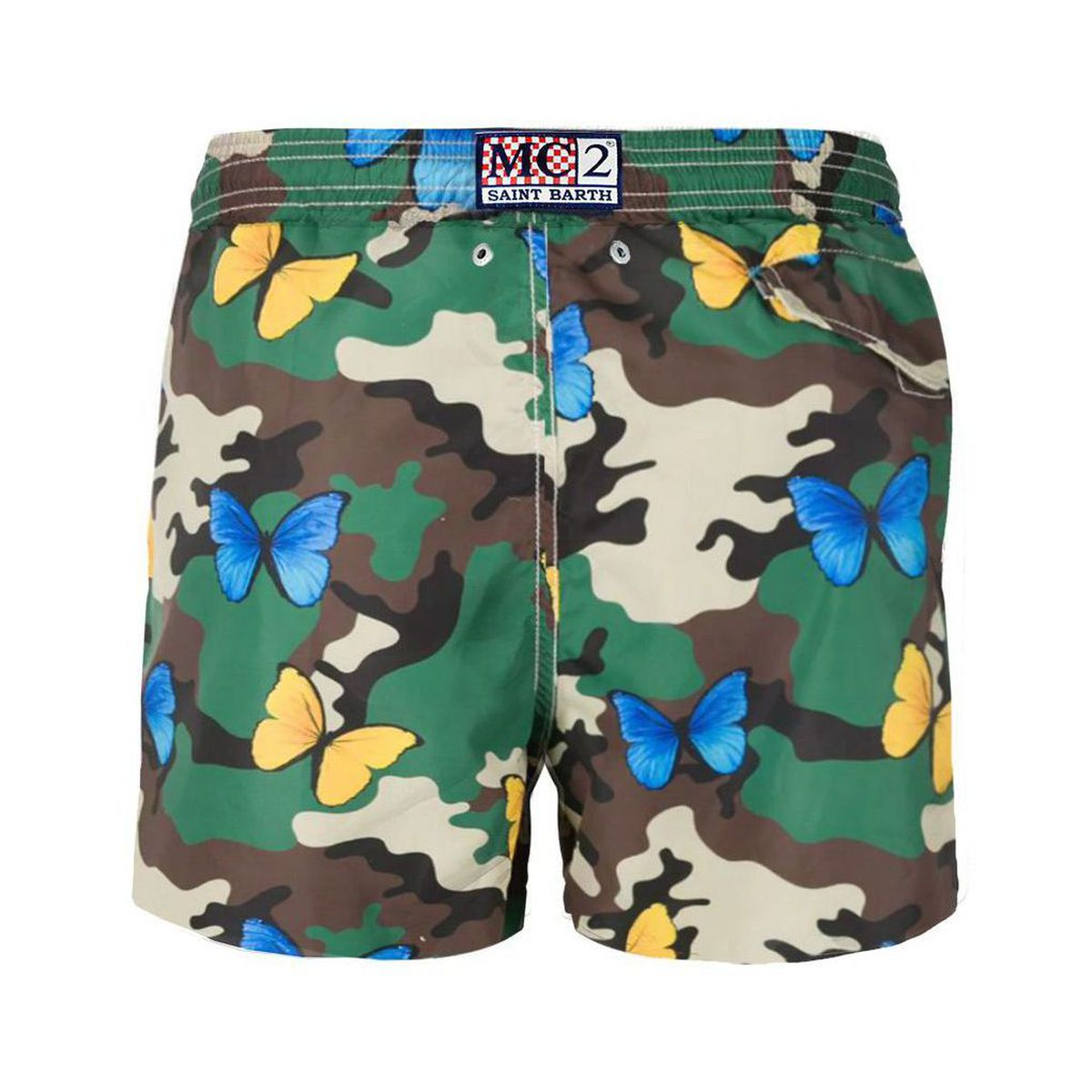 Nylon swimsuit with camouflage and butterflies print Camouflage MC2 Saint Barth