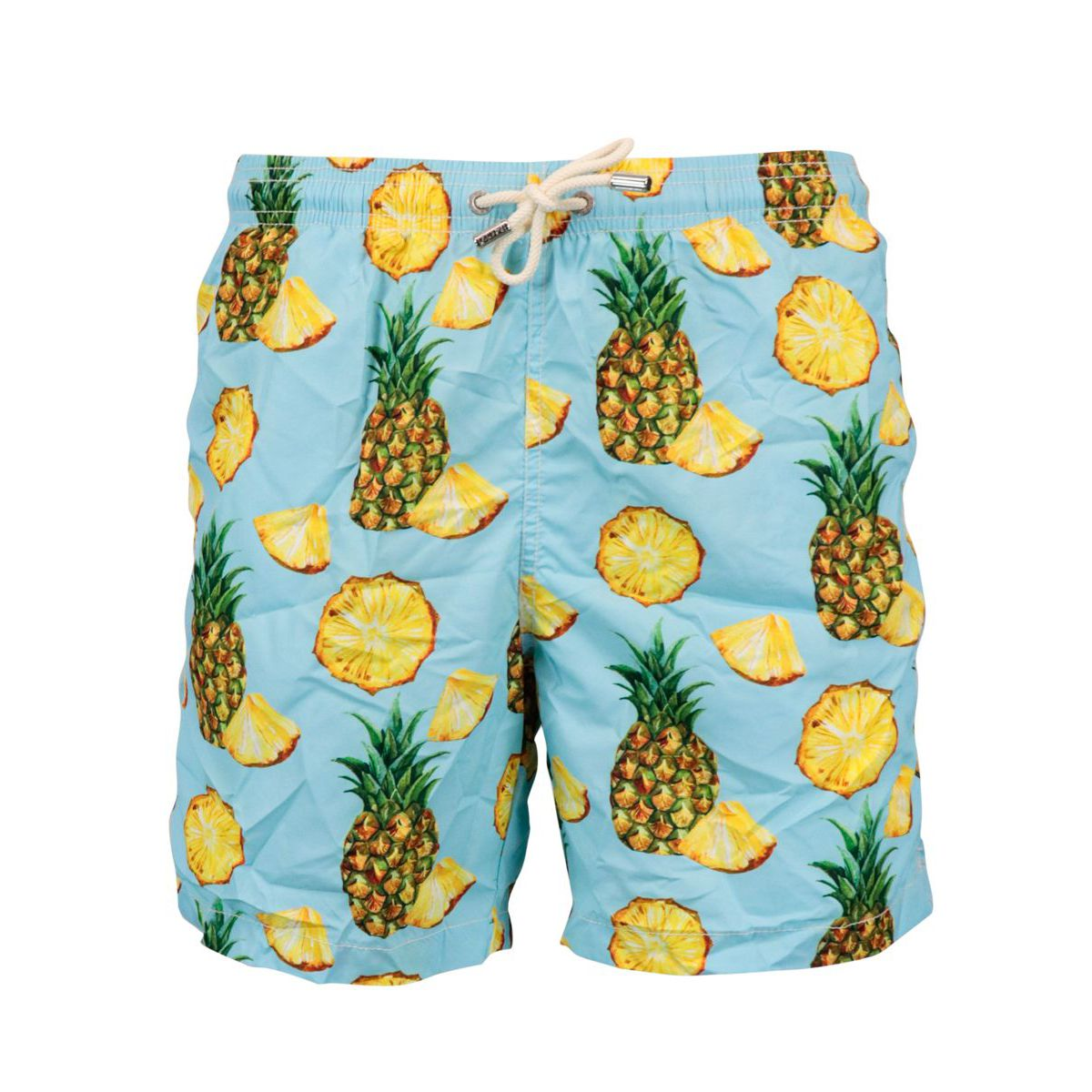 Boxer costume in nylon with large pineapple print Heavenly MC2 Saint Barth