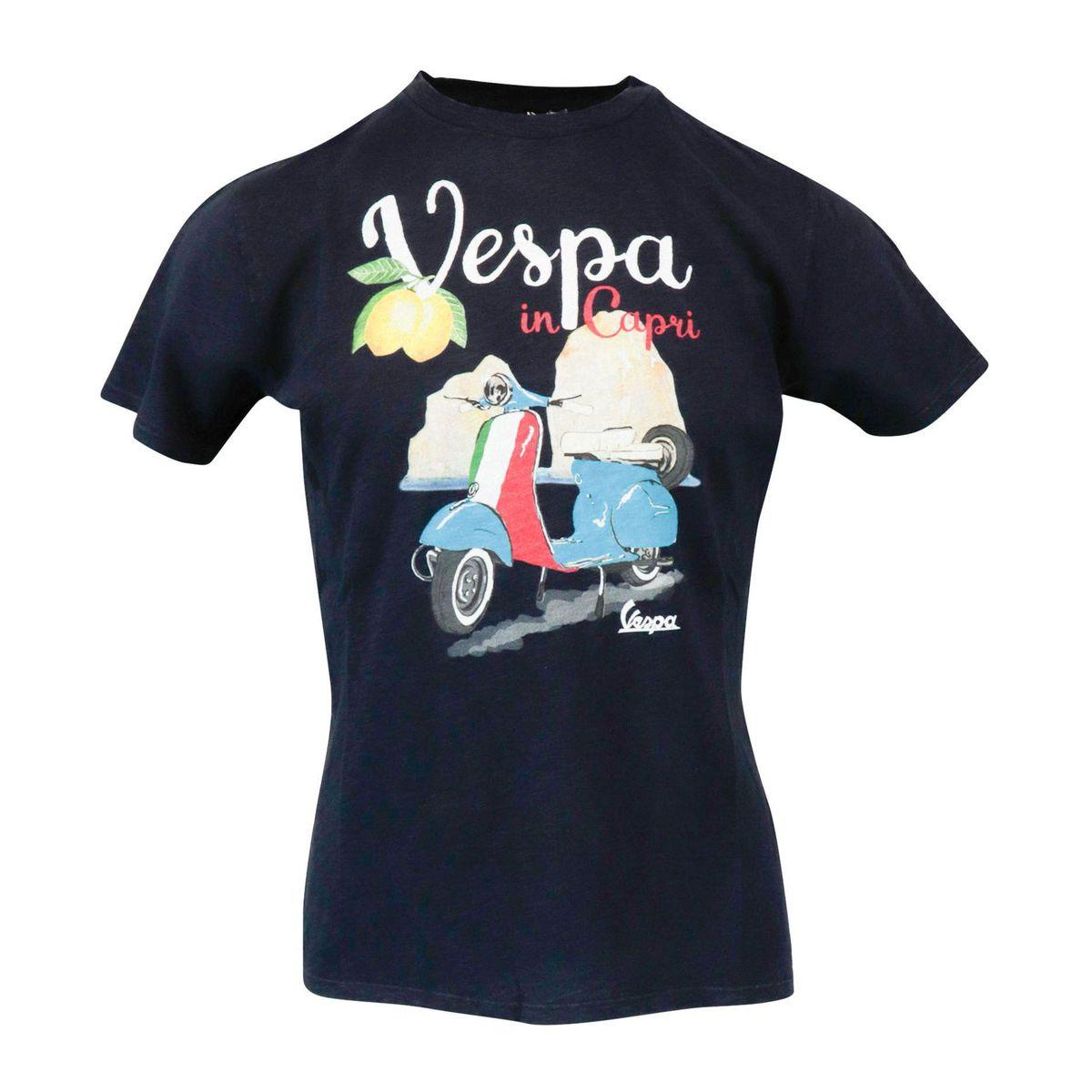 Vespa Capri 61 cotton t-shirt Navy black MC2 Saint Barth