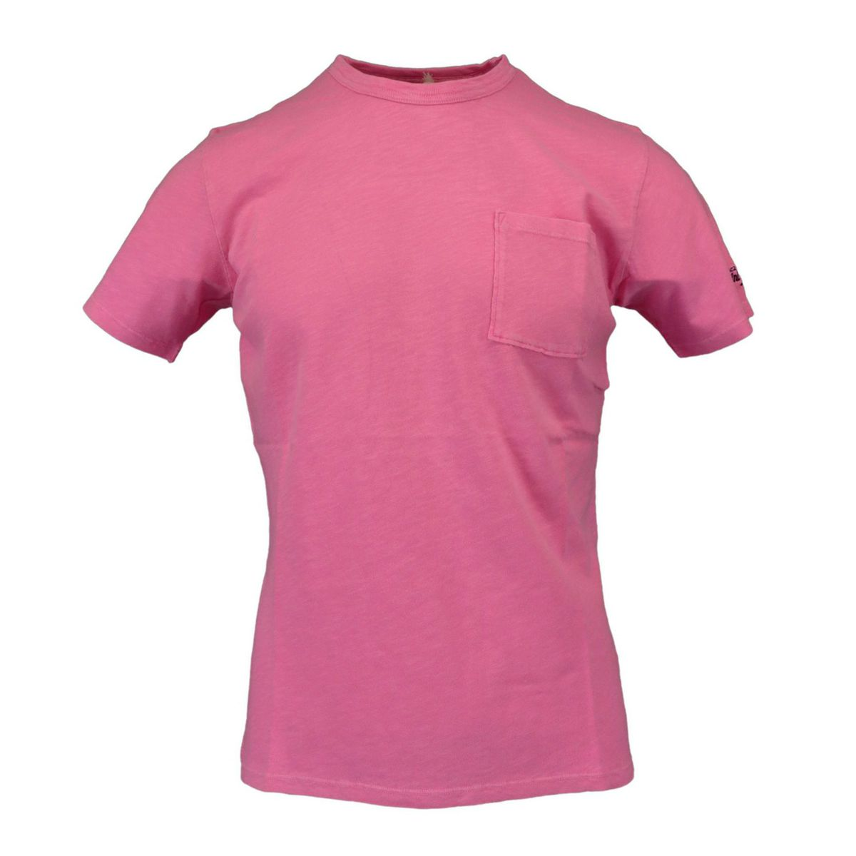 President T-shirt with pocket Rosa fluo MC2 Saint Barth