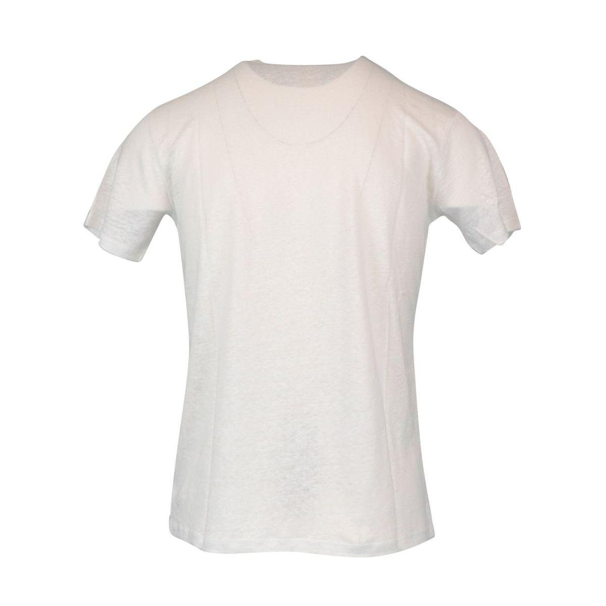 Linen T-shirt Pay 01 Cream MC2 Saint Barth