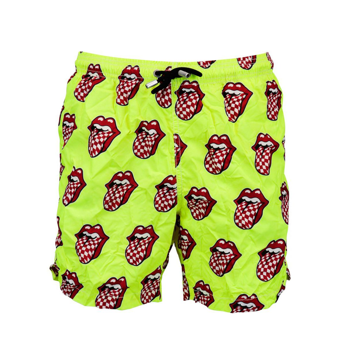 Nylon boxer costume with Rolling Stones print - Limited edition Yellow MC2 Saint Barth