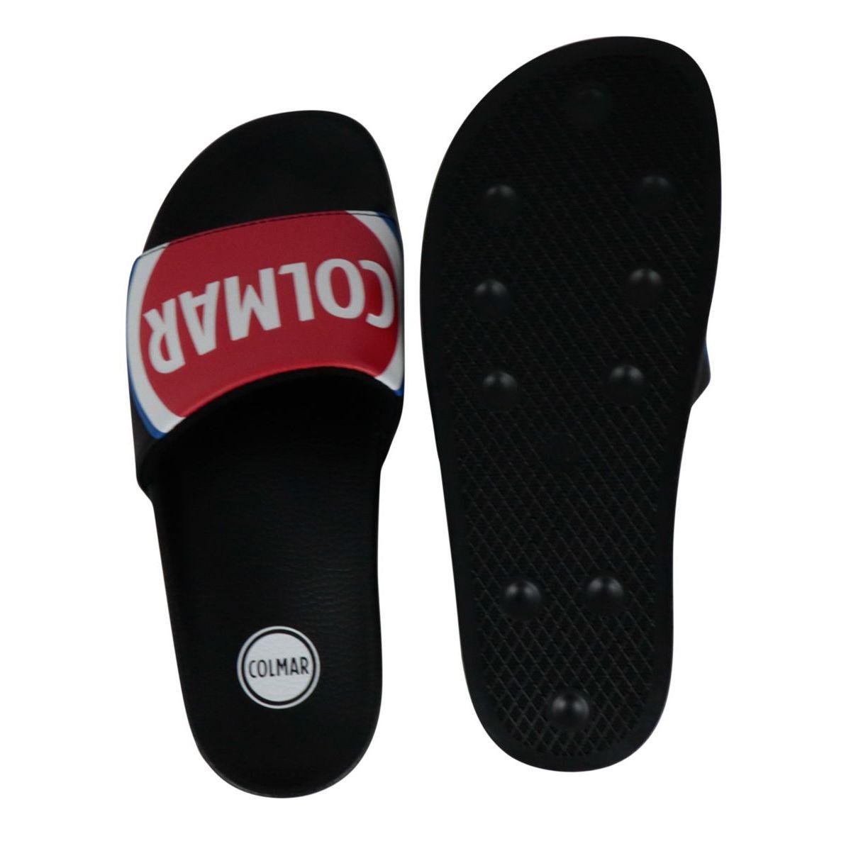 Beach slipper with logo Black Colmar Shoes