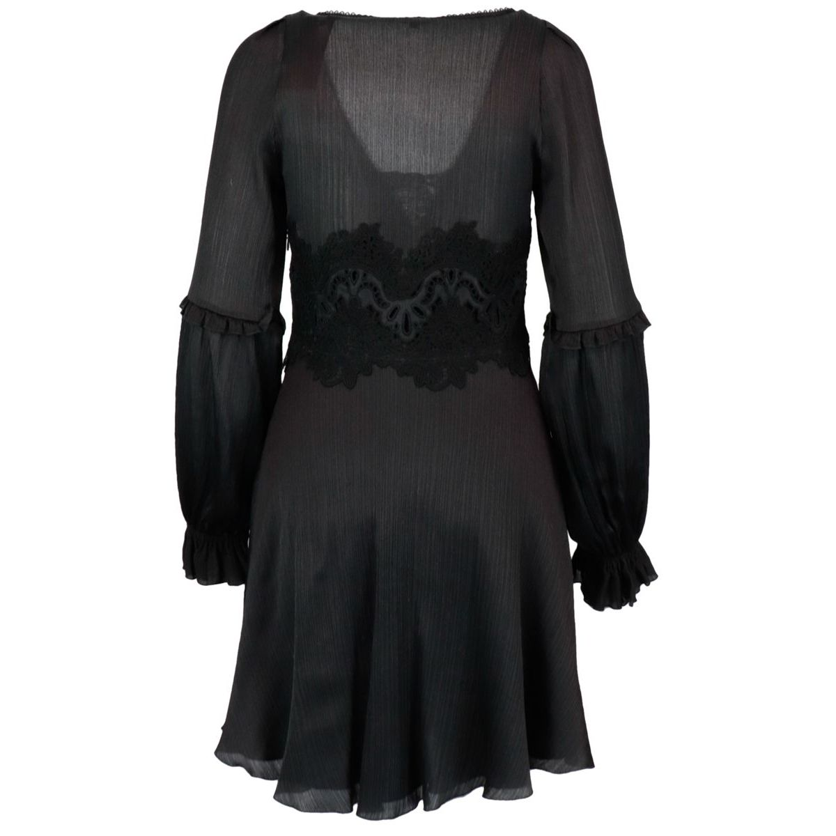 Long cotton and silk dress Black ERMANNO SCERVINO