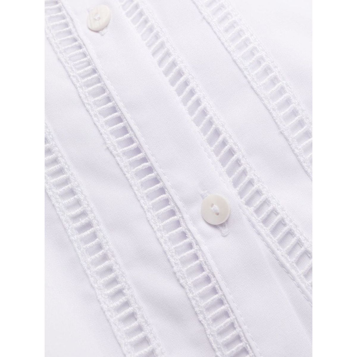 Asymmetrical cotton chemisier White ERMANNO SCERVINO