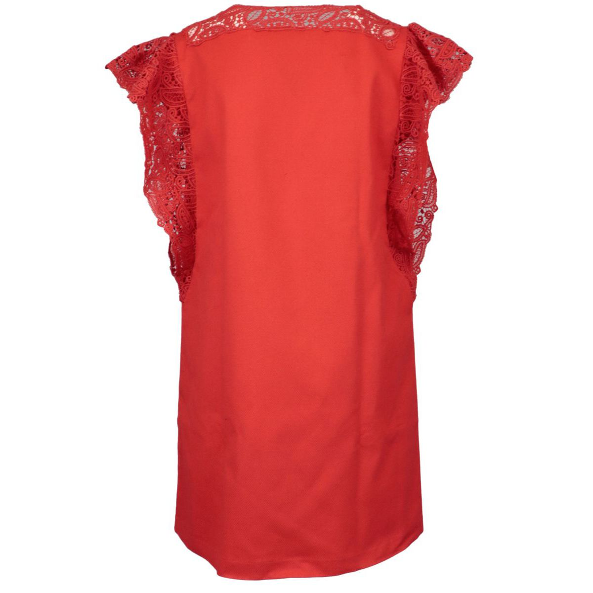 Stretch cotton pinafore with embroidered details Red ERMANNO SCERVINO