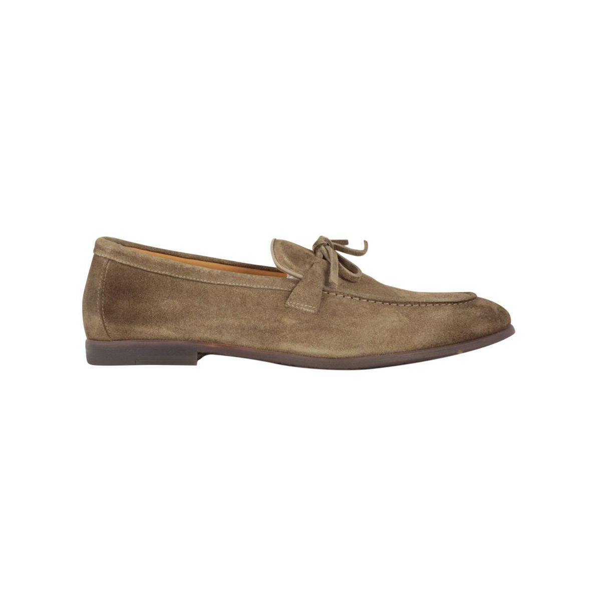 Suede moccasin with fringed detail Tobacco Doucal's
