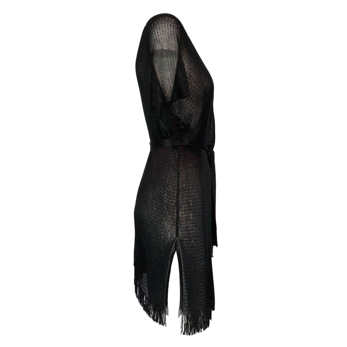 Cover-up Estela knit effect with cross closure Black MC2 Saint Barth