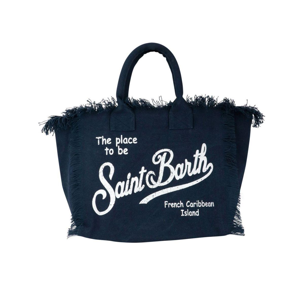Large Vanity bag in canvas Blue MC2 Saint Barth