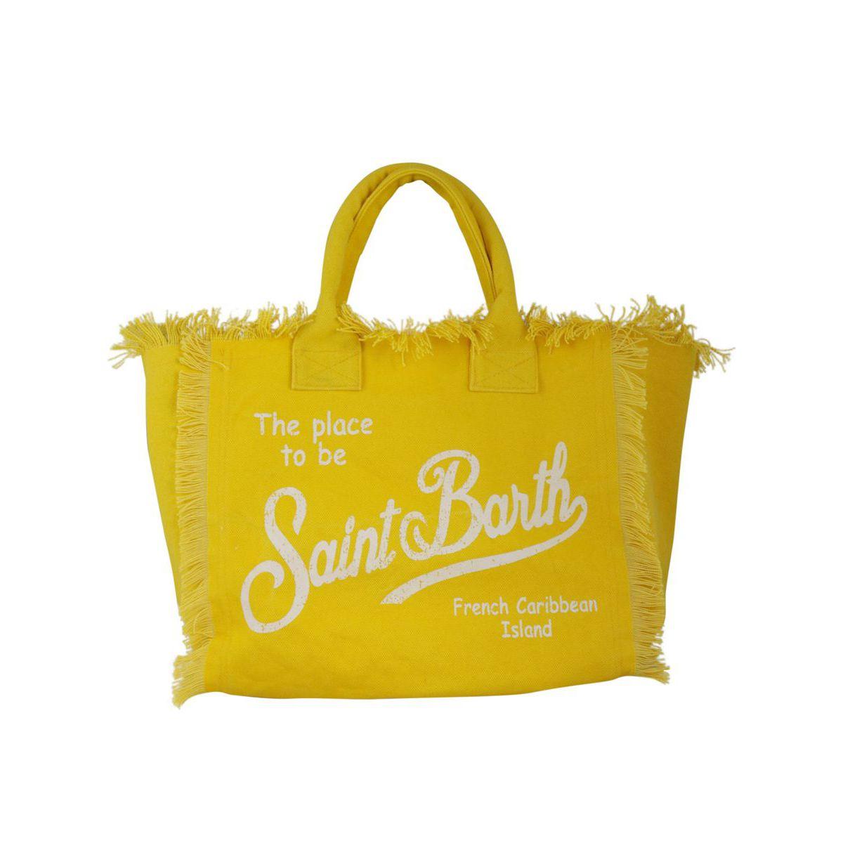 Large Vanity bag in canvas Yellow MC2 Saint Barth