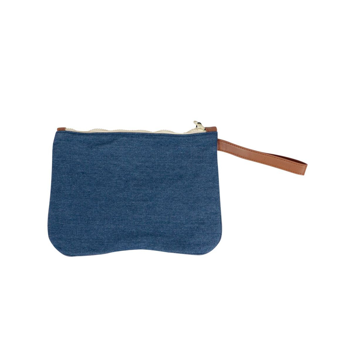 Parisienne patterned clutch bag with contrasting logo Denim MC2 Saint Barth