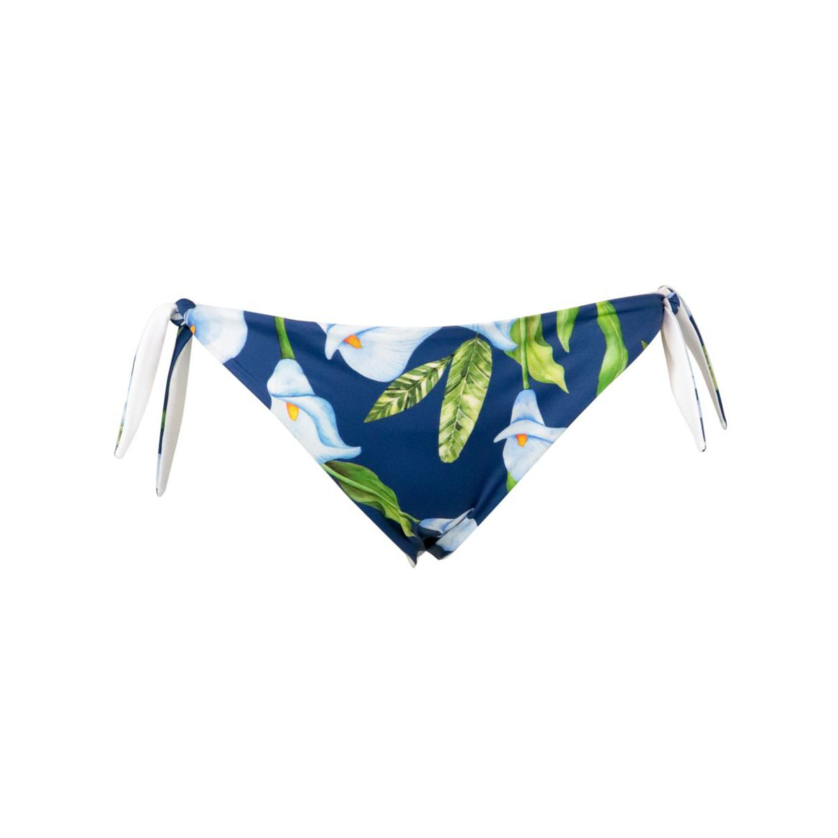 Briefs with side ties in stretch polyamide Blue / white MC2 Saint Barth