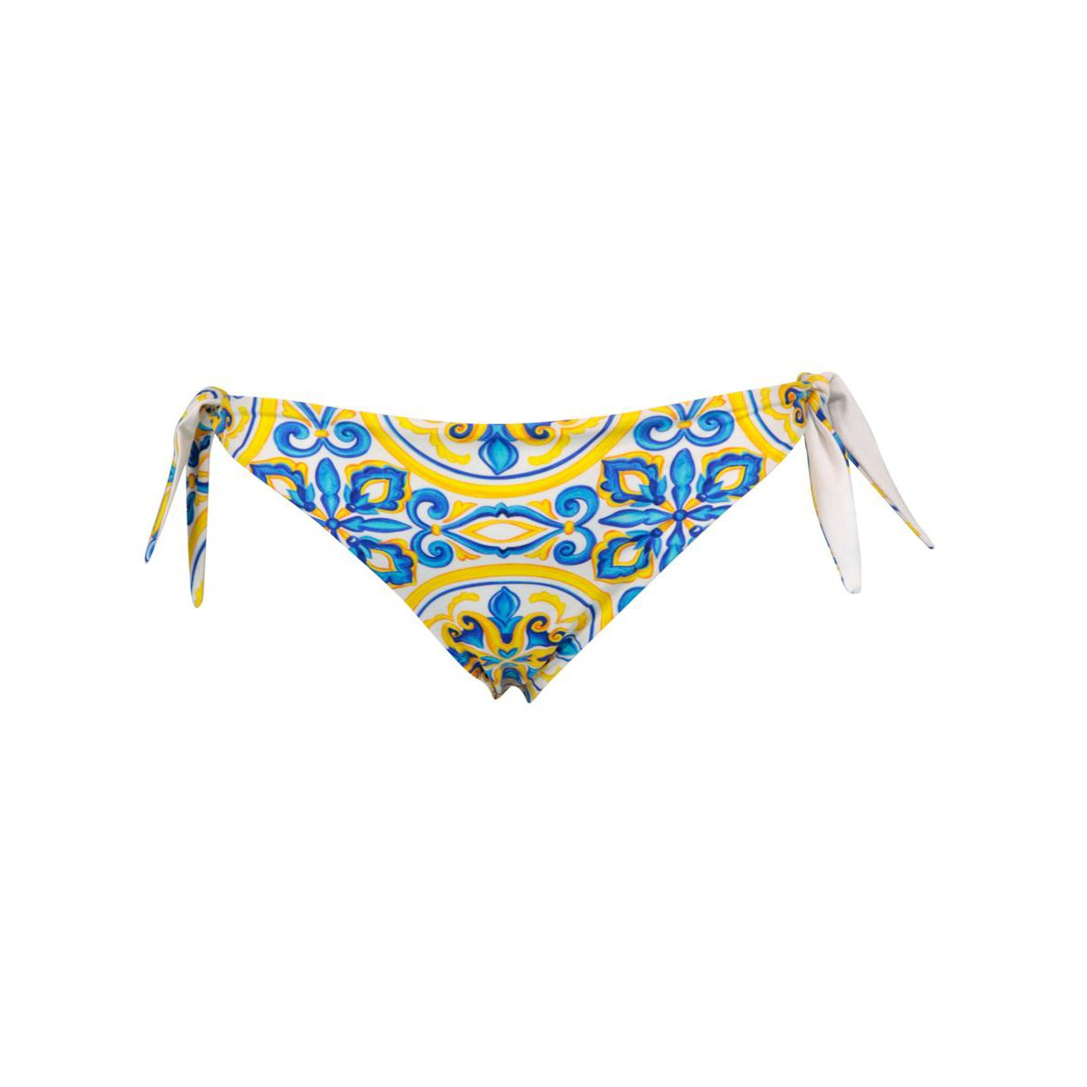 Briefs with side ties in stretch polyamide Blue majolica / g MC2 Saint Barth