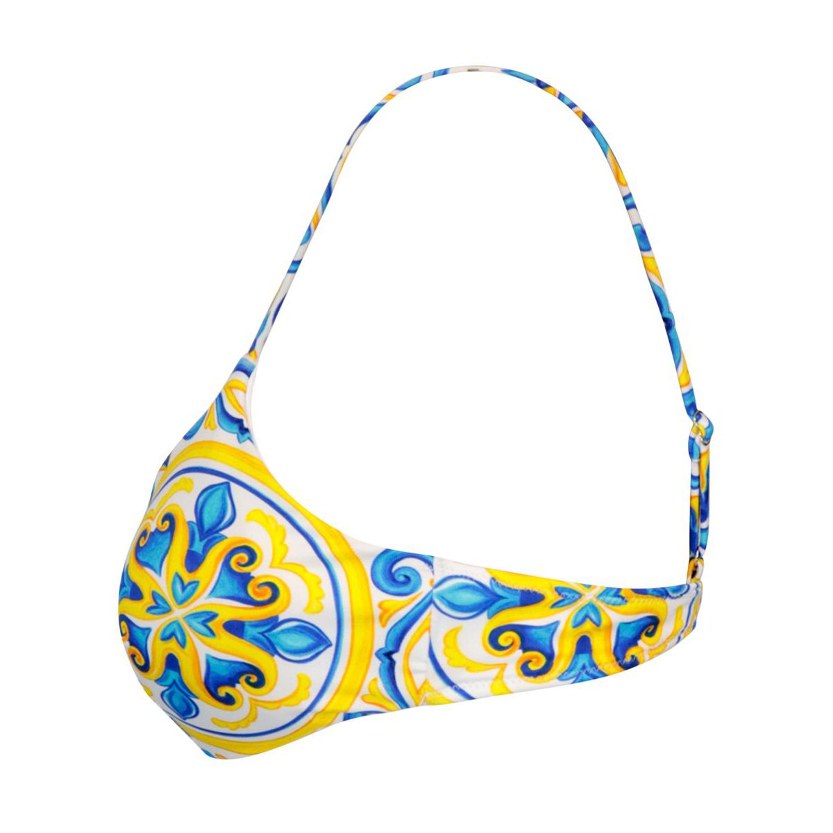 Bralette with majolica print Blue majolica / g MC2 Saint Barth
